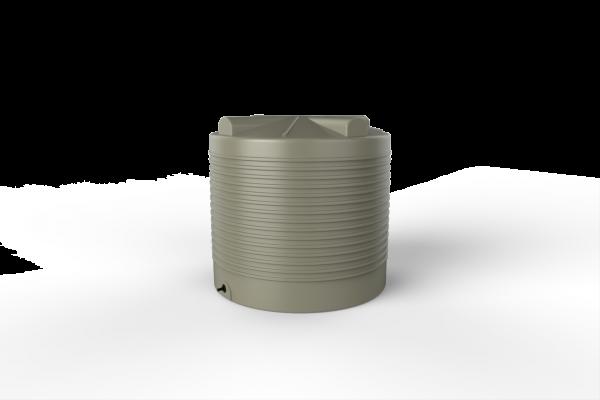 round rainwater tank
