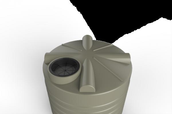 vertical view of rainwater tank