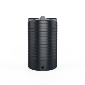 black rainwater tank