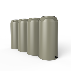 short slim rainwater tanks
