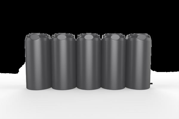black short slim tanks