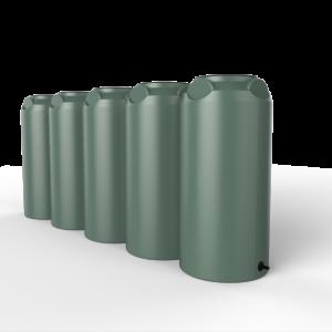 green short slim rainwater tank