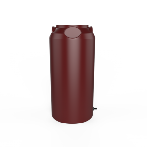 red short slim rainwater tank