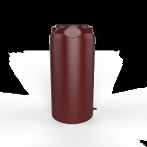 red short slim rainwater tank