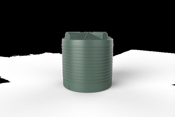 green round rainwater tank