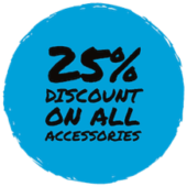 25% discount on all accessories